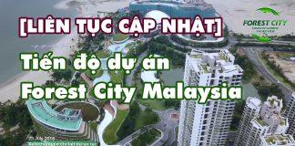 Tiến độ dự án Forest City Malaysia